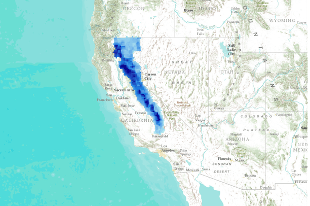 Yale Framework - Effects of climate change and vegetation on the current and future distribution of martens and fishers in the Sierra Nevada, California USA